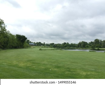 Oakville, Ontario / Canada - August 20 2018: the view of a golf course near Oakville and Toronto.