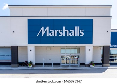 Oakville, Ontario, Canada - July 14, 2019: Marshalls store in Oakville, Ontario, Canada near Toronto.  Canada. Marshalls is a chain of American off-price department stores.