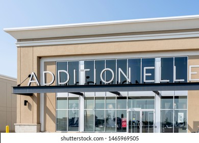 Oakville, Ontario, Canada - July 25, 2019: Addition Elle store in Oakville, Ontario, Canada.  Addition Elle is a Canadian clothing store chain that sells plus-size women' clothing.