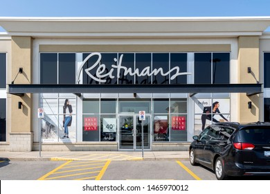 Oakville, Ontario, Canada - July 25, 2019: A Reitmans store in Oakville, Ontario, Canada. Reitmans Ltd. is a Canadian retailing company, specializing in women's clothing.