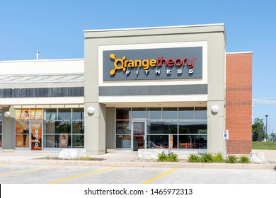 Oakville, Ontario, Canada - July 25, 2019: One of the Orangetheory Fitness in Oakville, Ontario, Canada. Orangetheory Fitness is an American privately owned fitness franchise.