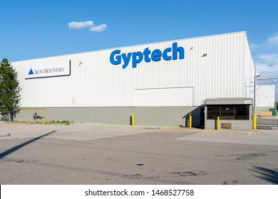 Oakville, Ontario, Canada - July 28, 2019: Building of Gyptech Manufacturing in Oakville, Ontario, Canada. Gyptech is a Canadian Manufacturer providing equipment for wallboard production.