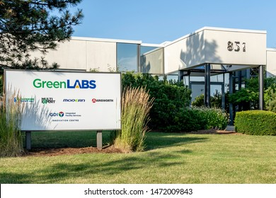 Oakville, Ontario, Canada - July 28, 2019: GreenLABS Chemical Solutions in Oakville, Ontario, Canada. GreenLABS is one of the Canada's premier white label chemical program.