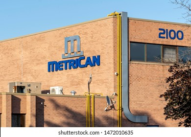Oakville, Ontario, Canada - July 28, 2019: MetriCan head office in Oakville, Ontario, Canada.The MetriCan Group Of Companies is a Canadian supplier of tooling and stamped metal components.