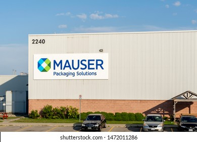Oakville, Ontario, Canada - July 28, 2019: Building of Mauser packaging Solutions in Oakville, Ontario, Canada. Headquartered in Germany, Mauser is a provider of industrial packaging.