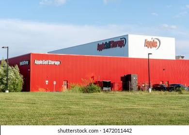 Oakville, Ontario, Canada - July 28, 2019: Apple Self Storage in Oakville, Ontario, Canada.