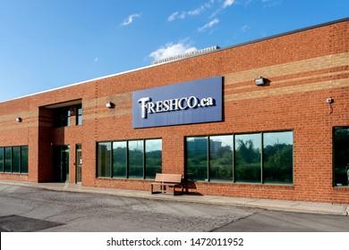 Oakville, Ontario, Canada - July 28, 2019: Freshco Retail Maintenance Inc. in Oakville, Ontario, Canada, a Canadian Construction and maintenance company.