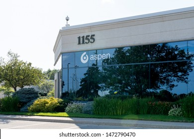 Oakville, Ontario, Canada - July 28, 2019:  Aspen Pharmacare Canada, a branch of Aspen Holdings in Oakville, Ontario, Canada, a South African-based supplier of branded and generic pharmaceuticals.