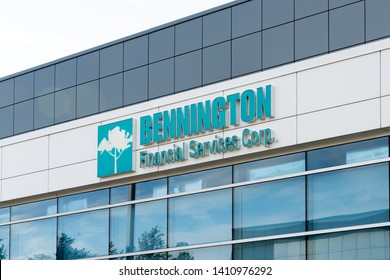 Oakville, Ontario, Canada - May 27, 2019: Sign of Bennington Corporate office in Oakville, Ontario, Canada, a Canadian company to provide corporate support functions for Bodkin and Equirex.