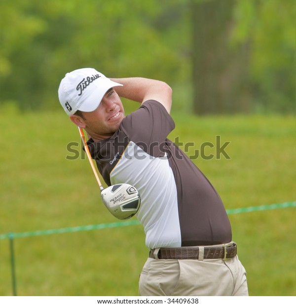 OAKVILLE, ONTARIO - JULY 22: Golfer Chez Reavie follows his tee shot during a pro-am event at the Canadian Open golf on July 22, 2009 in Oakville, Ontario.