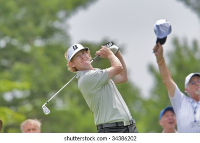 OAKVILLE, ONTARIO - JULY 22: Tennessee's Brandt Snedeker, who won the U.S. Amateur Public Links in 2003, keeps his eye on the ball at the 100th Canadian Open at Glen Abbey Golf Course on July 22, 2009 in Oakville, Ontario.