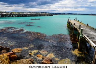 Oamaru Harbour, North Otago, New Zealand.