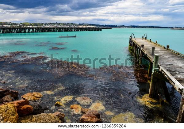 Oamaru Harbour, North Otago, New Zealand.