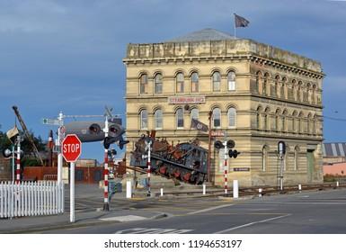 Oamaru, New Zealand - September 29, 2018: Steampunk HQ Building Tourist Attraction, Oamaru, North Otago, New Zealand
