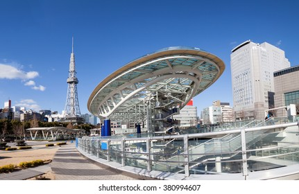 Oasis 21 in Nagoya, Japan city skyline with Nagoya Tower., They are public location