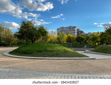 An oasis of oxygen in the heart of the city, Madrid Rio Park, Madrid, Spain