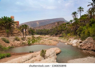 Oasis Paradise valley in mountains Agadir, Morocco.