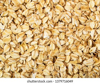 Oat flakes. The form of the top.