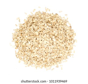 Oat flakes  isolated on white