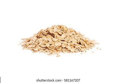 oat flakes isolated over white