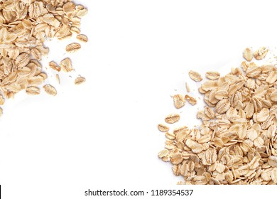 Oat flakes. Pattern of oat flakes. Hercules as background