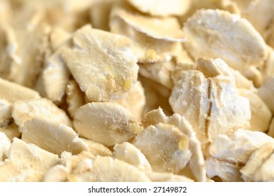 Oat-flakes, background.