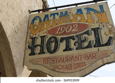 OATMAN - Ghost Town - Oct 26 2015: The Historic Mining Camp Oatman Oct 26, 2015 in AZ on Historic Route 66.