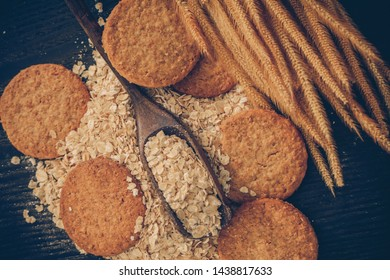 Oatmeal cookie with oat meal ingredient