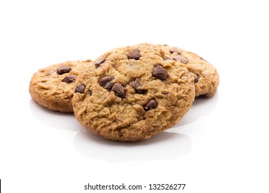 Oatmeal cookies with chocolate chips, sugar-free. Ecological product.