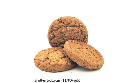 oatmeal cookies on the white