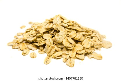 Oatmeal isolated on white background