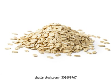 oatmeal on the white background