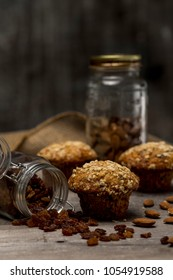 oatmeal raisin and almond muffins