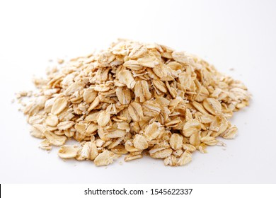 Oats. Healthy food. White background.