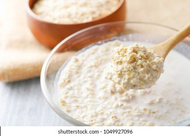 Oats with milk