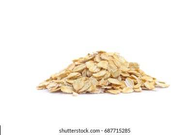 oats, oatmeal isolated on white background