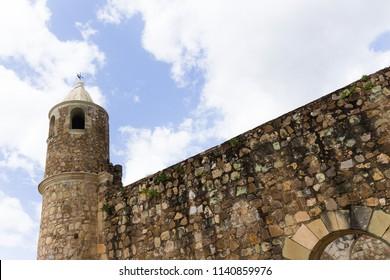 Oaxaca, Oaxaca / Mexico - 21/7/2018: (Ruins of the ex Convent of Cuilapan in Oaxaca Mexico)