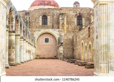 Oaxaca, Oaxaca / Mexico - 21/7/2018: (Ruinss of the ex Convent of Cuilapan in Oaxaca Mexico)