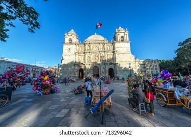 OAXACA, MEXICO - MARCH 4: Activity in the Zocalo in the center of Oaxaca, Mexico on March 4, 2017