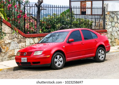 Oaxaca, Mexico - May 25, 2017: Motor car Volkswagen Bora in the city street.