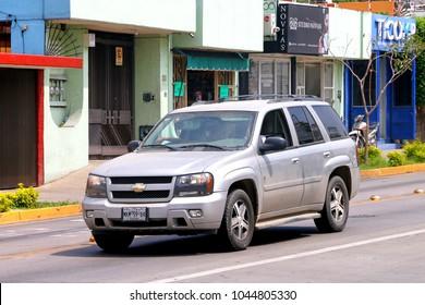 Oaxaca, Mexico - May 25, 2017: Motor car Chevrolet TrailBlazer in the city street.