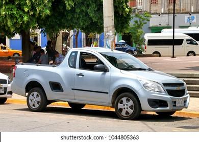 Oaxaca, Mexico - May 25, 2017: Pickup truck Chevrolet Tornado in the city street.
