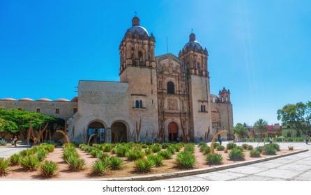 Oaxaca, Mexico - November 21, 2016: Church of Santo Domingo de Guzman in Oaxaca, Mexico