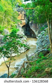 Ob Luang Mountain river in the forest, Thailand