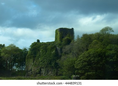 Oban Castle - Scotland, with Trees and Moss