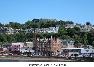 Oban, Highlands. Scotland. July 18, 2017. On the way to do The Hebridean Way from Oban on ferry.