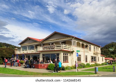 Oban / New Zealand - March 26 2018: The South Sea Hotel, One of the Southernmost in New Zealand. Oban, Stewart Island