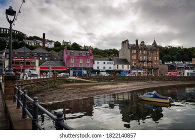 OBAN, SCOTLAND - 14 SEPTEMBER 2016: A beautiful view of the bay at Oban on a cloudy day, Scotland