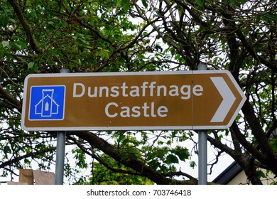 OBAN, SCOTLAND -15 JUL 2017- The landmark Dunstaffnage Castle is a popular tourist destination near Oban, Scotland.