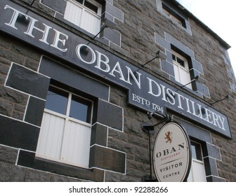 OBAN, SCOTLAND - NOVEMBER 14: Oban Distillery, one of Scotland's oldest and smallest producers of single malt whisky on November 14, 2011 in Oban, Scotland.